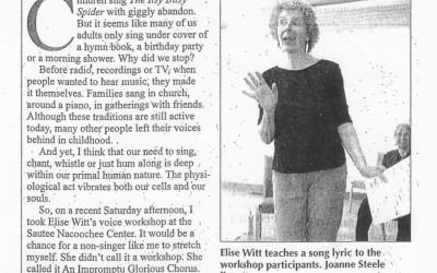 "White County News | Elise Witt: ""She could get a colony of ants singing!"""
