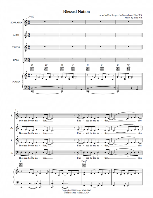 Blessed Nation SATB Sheet Music