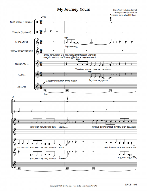 My Journey Yours SSAA Sheet Music