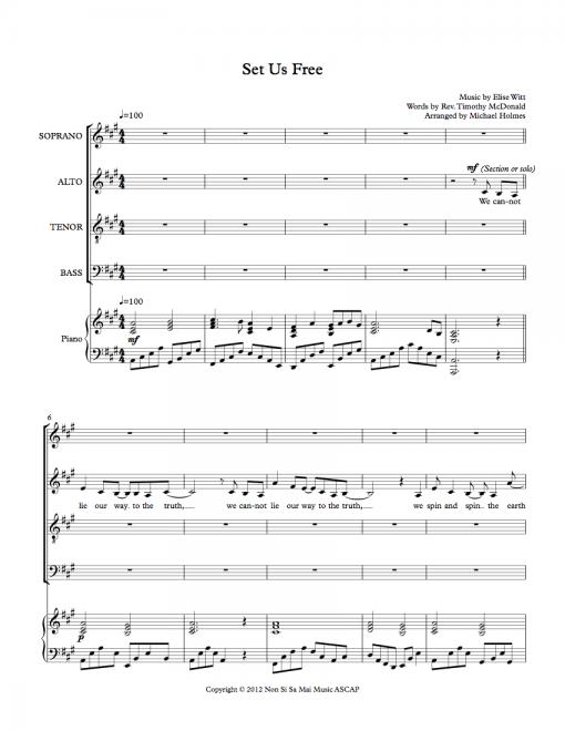 Set Us Free SATB Sheet Music