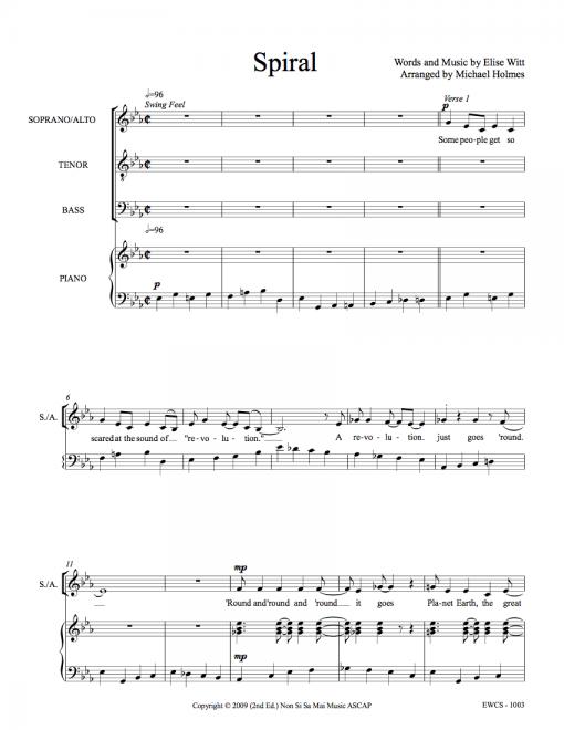Spiral SATB Sheet Music