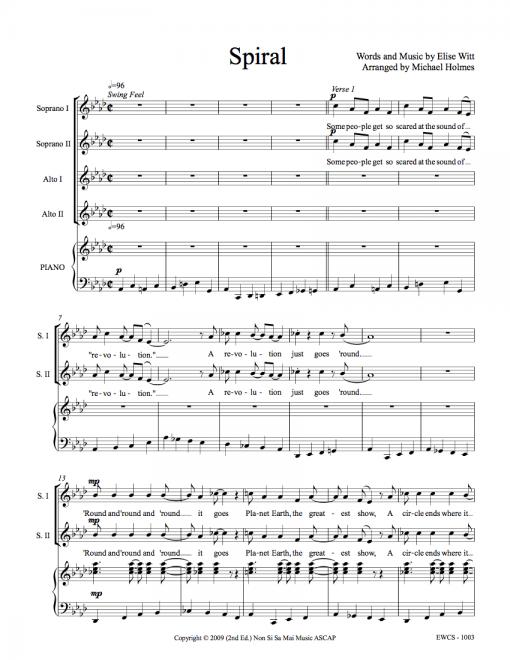 Spiral SSAA Sheet Music