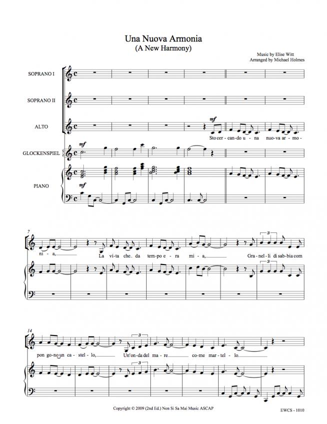 Una Nuova Armonia SSA Sheet Music