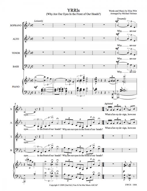 YRRIs SATB Sheet Music