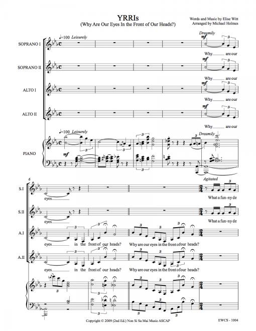 YRRIs SSAA Sheet Music