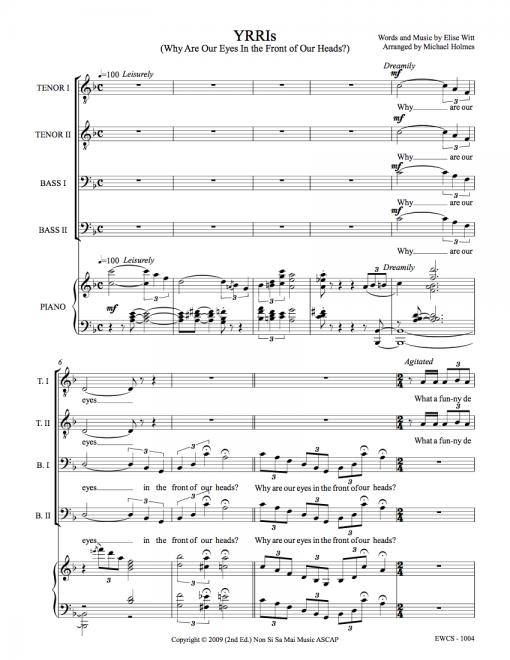 YRRIs TTBB Sheet Music