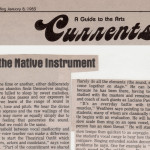 Creative Loafing | Tuning the Native Instrument