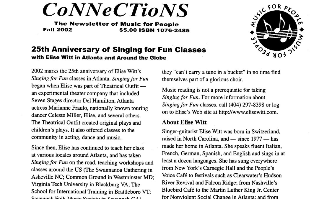 Connections | Singing for Fun Classes