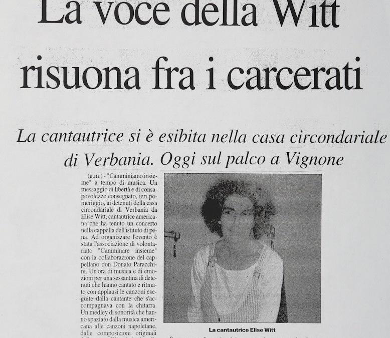La voce della Witt risuona fra i carcerati