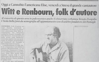 Witt e Renbourn, folk d'autore