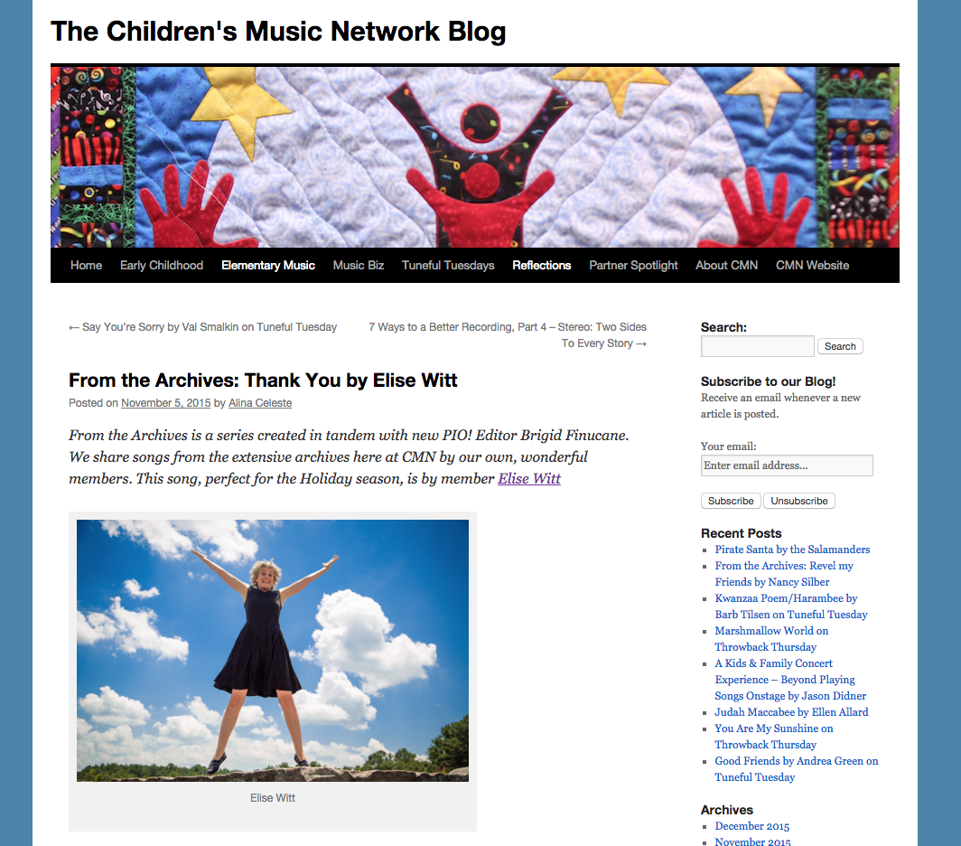 The Children's Music Network revisits Thank You