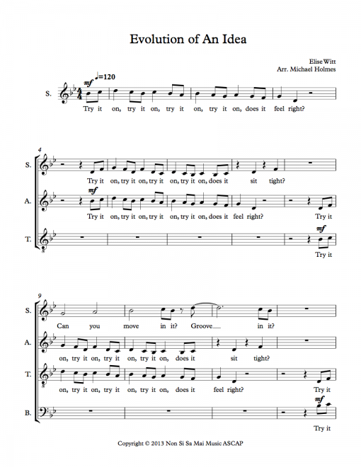 Evolution of an Idea SATB Sheet Music