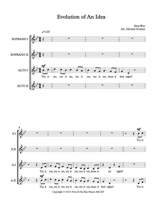 Evolution of an Idea SSAA Sheet Music