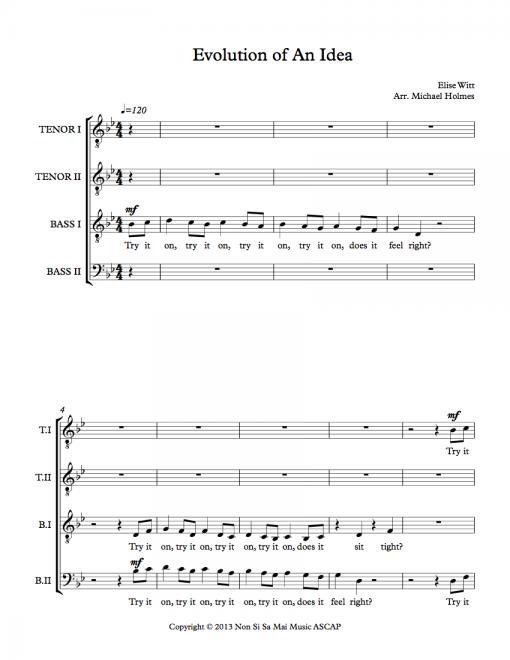Evolution of an Idea TTBB Sheet Music