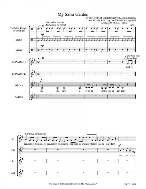My Salsa Garden SSAA Sheet Music