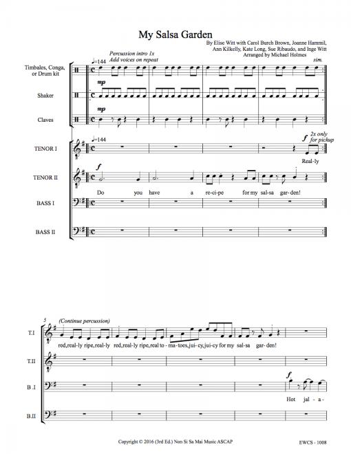 My Salsa Garden TTBB Sheet Music