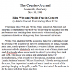 The Courier-Journal<br><em>Elise Witt and Phyllis Free in Concert</em>
