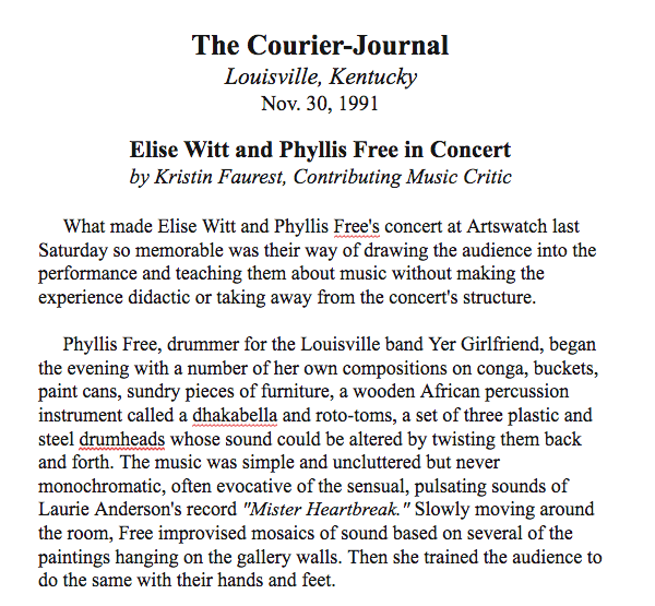 The Courier-JournalElise Witt and Phyllis Free in Concert