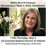 WRFG presents Amy Goodman of Democracy Now!