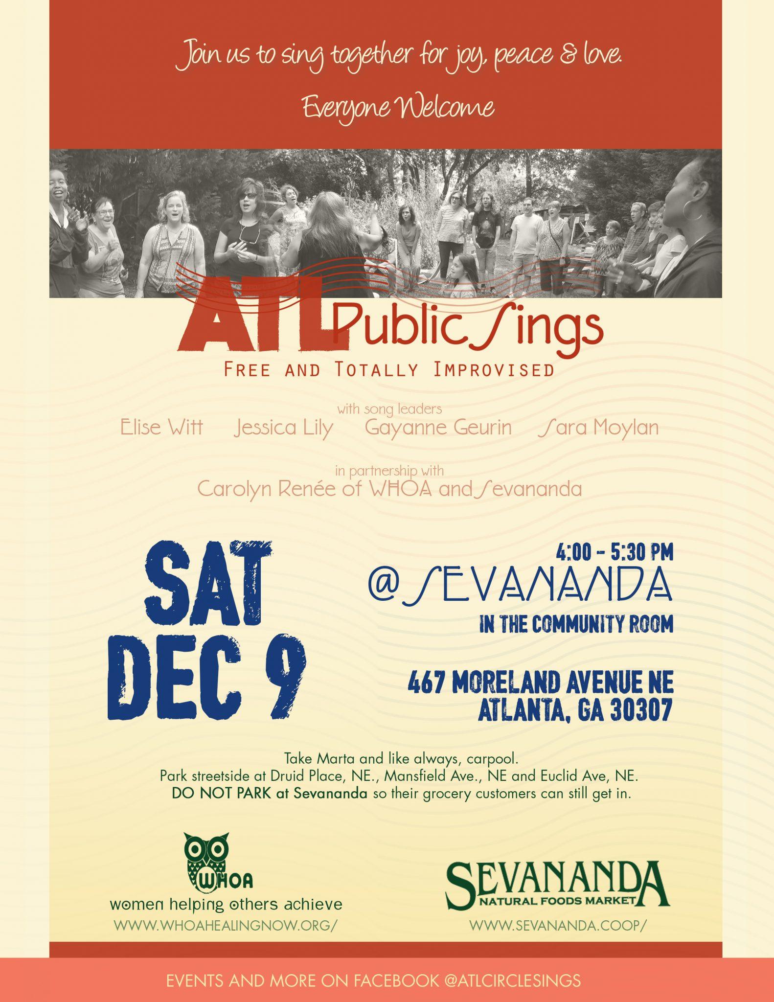 ATL Public Sings @ Sevananda