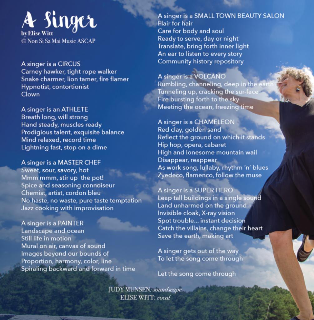 A Singer Album Art - Elise Witt's Artist Statement