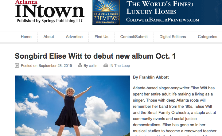 Atlanta INtown features Elise Witt