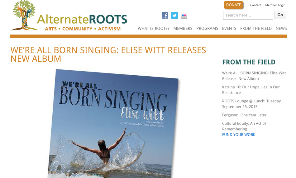 Alternate ROOTS with Elise Witt