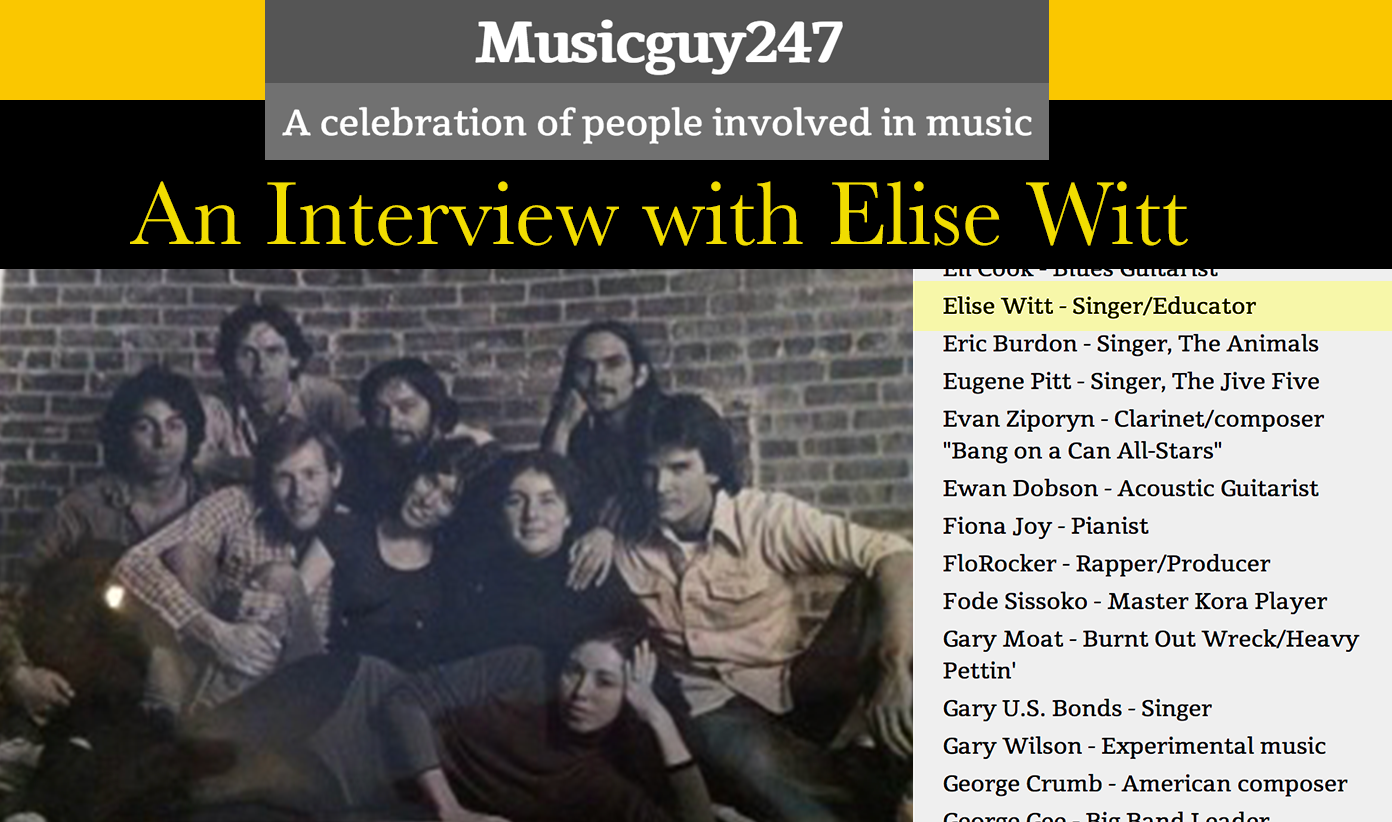 Musicguy247&#8217;s Interview with Elise Witt</br><em>A celebration of people involved in music</em>