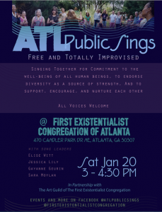 <strong>Atlanta, GA</strong></br>ATL Free Public Totally Improvised Sing