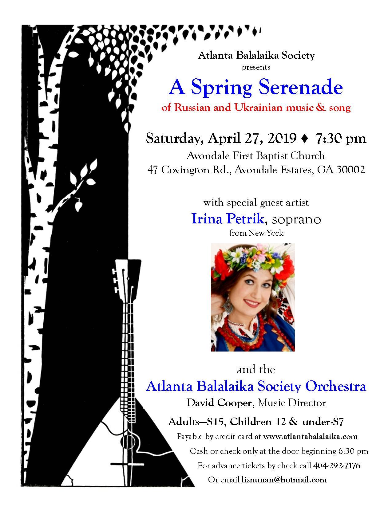 Balaika Society Concert April 27