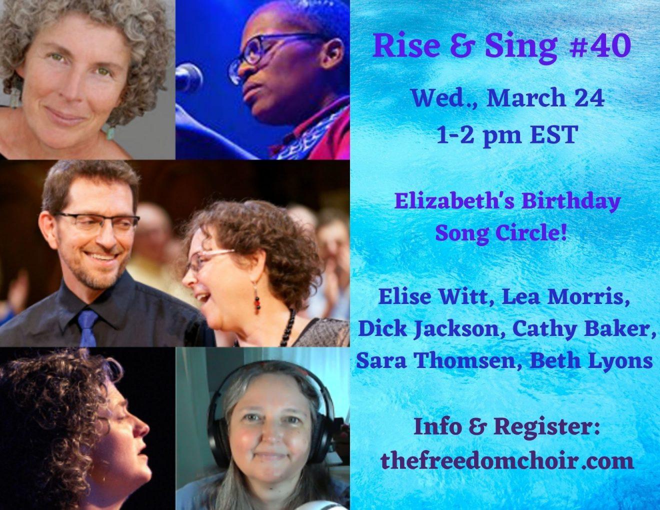 Rise & Sing Birthday 3.24.21 flyer